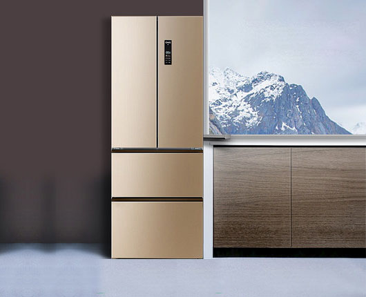 美菱 BCD-356WPUCX 冰箱家用多门风冷小型四开门电冰箱